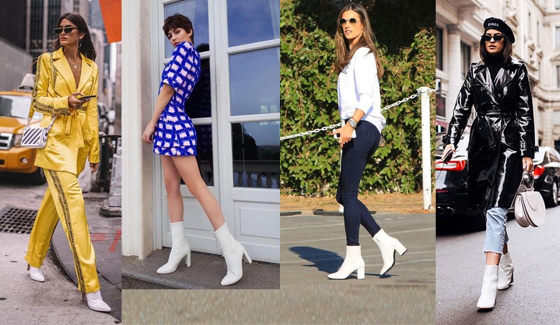 Botas blancas de moda