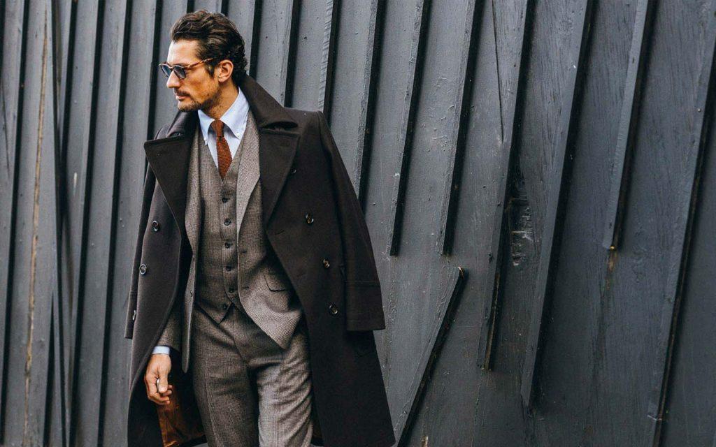 camisas para hombre con terno y abrigo