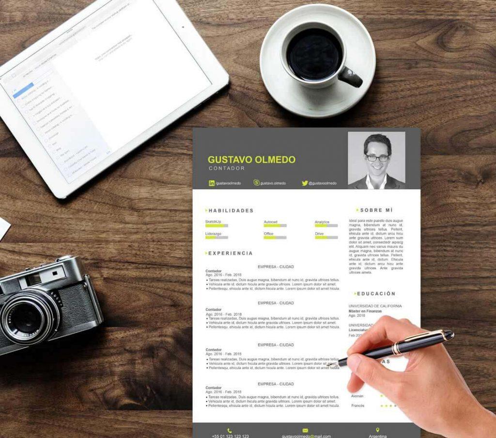 Formato del Currículum Vitae
