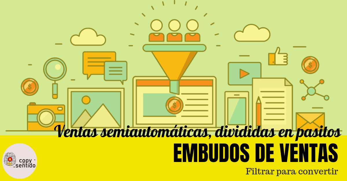 esquema visual asociado a embudos de venta y la conversión de marketing