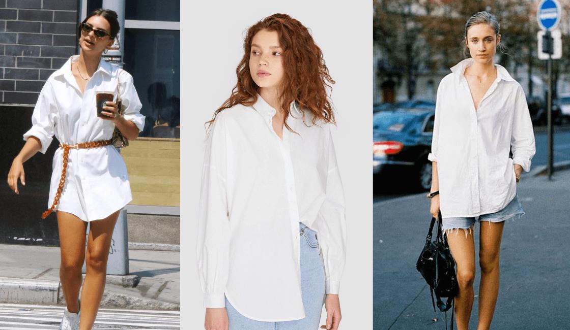 camisas blancas tendencia de streetwear