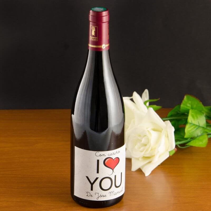 Etiqueta de vino personalizado
