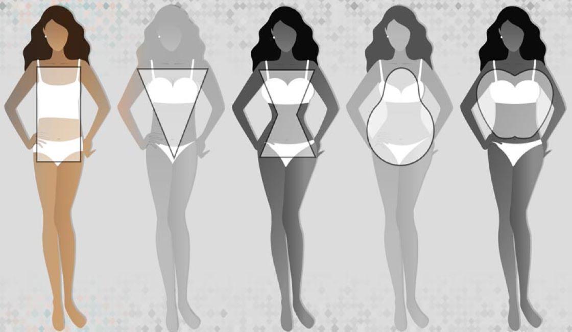 traje de baño y tipos de cuerpo