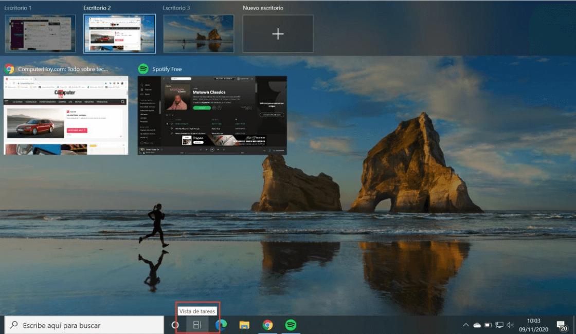 como crear un escritorio virtual