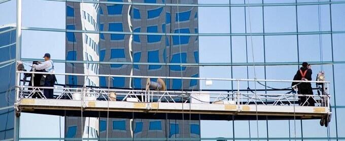 Góndolas para limpieza de vidrios en altura