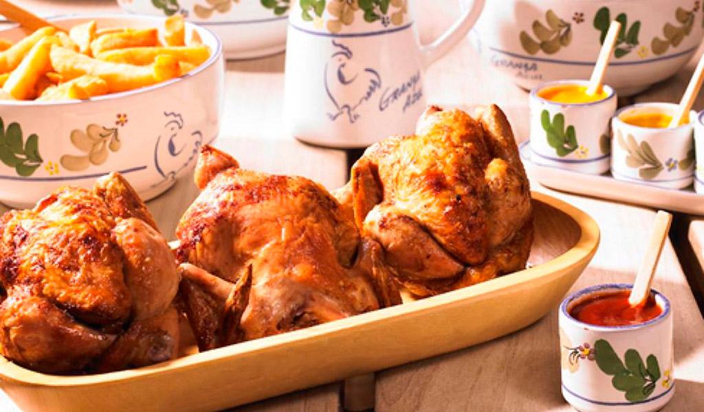 Pollo a la brasa con ensalada