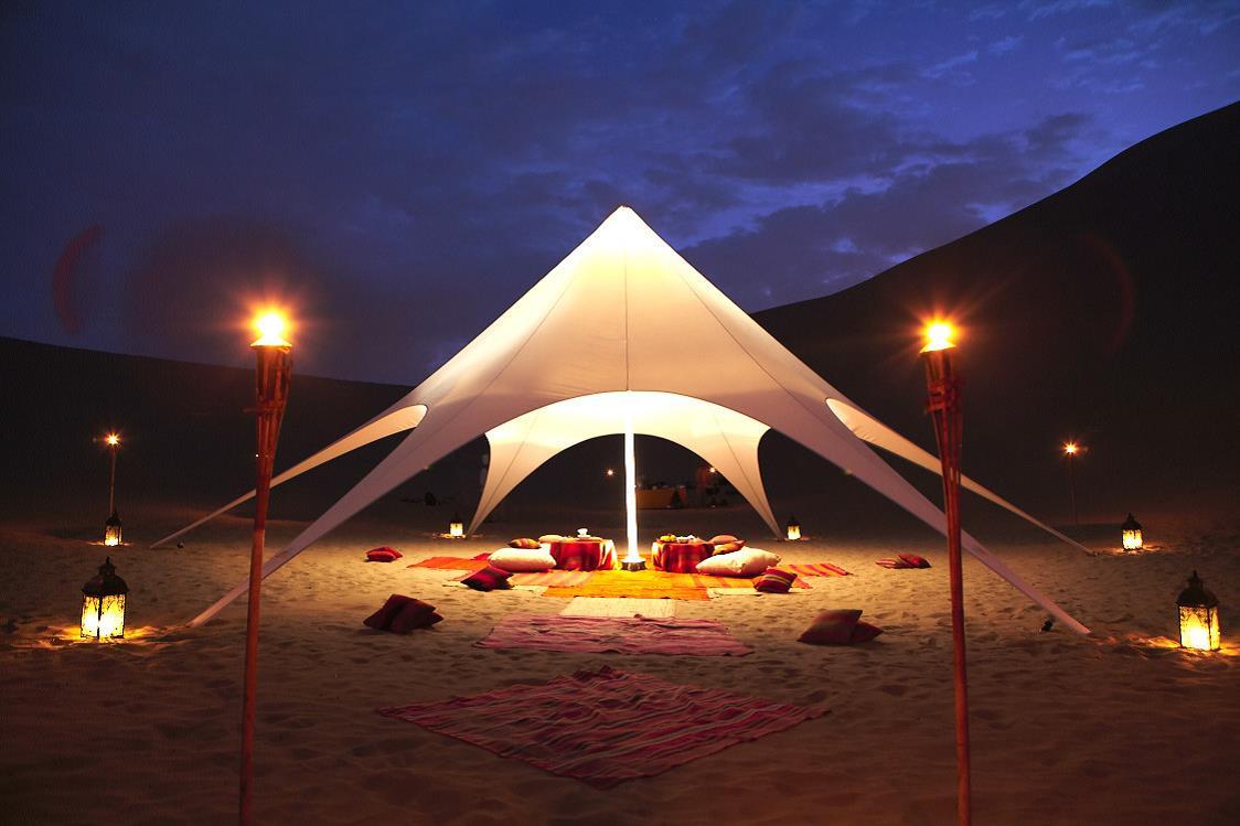 ica picnic en el desierto carpa