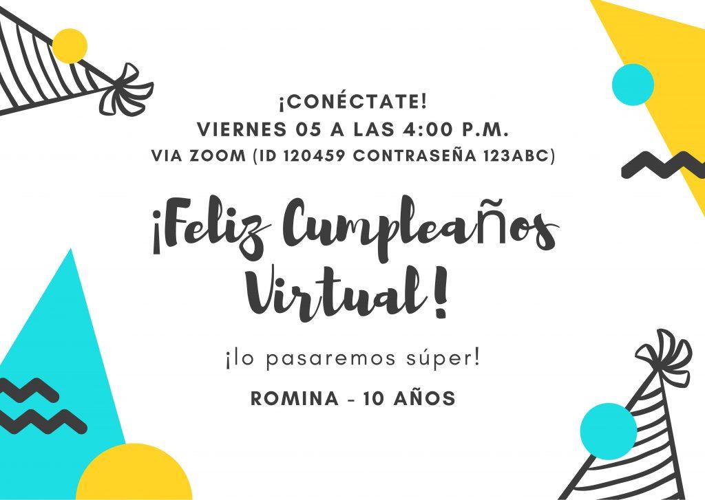 invitación virtual para fiesta pasos para organizar fiesta infantil