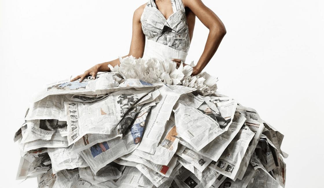 vestido de papel periódico