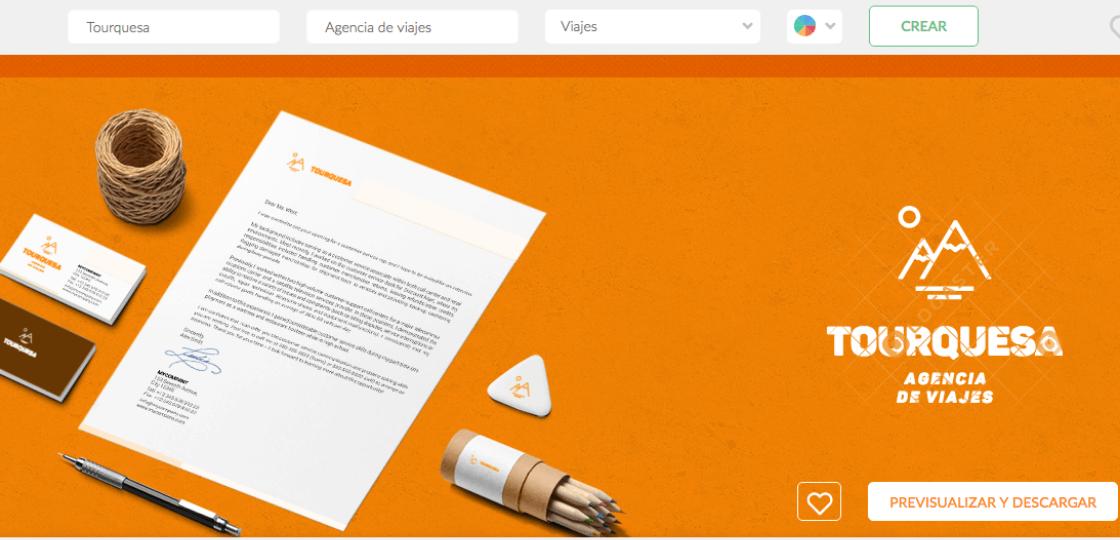 Logaster home page - programas online para crear logos modernos gratis