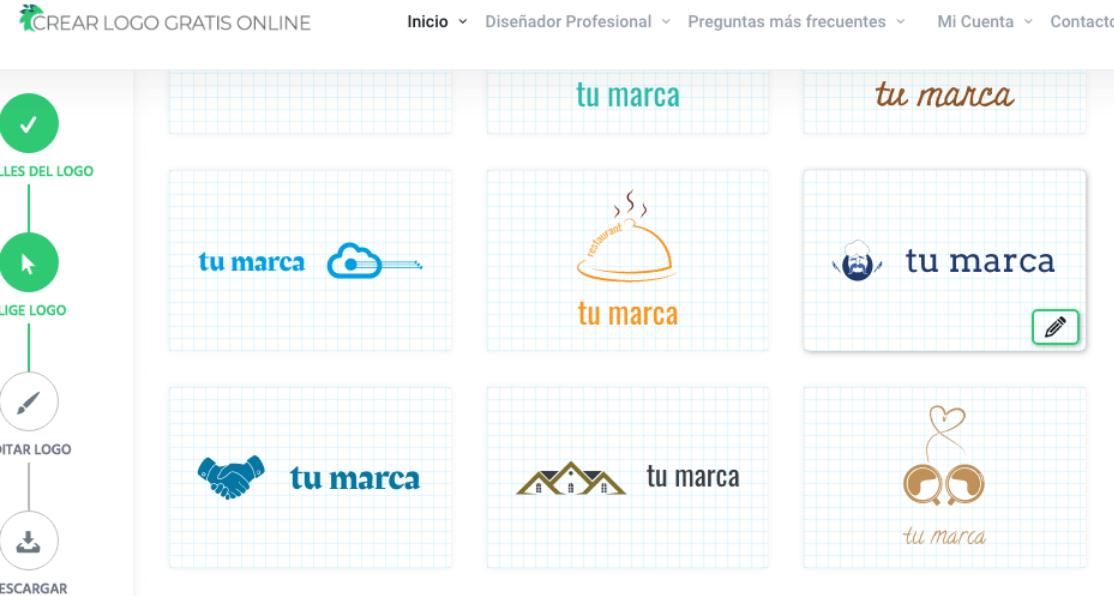 Crear logos gratis online home page