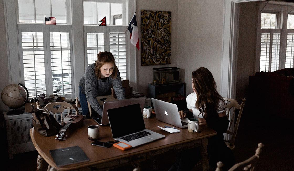 flexibilidad mientras se labora en el hogar