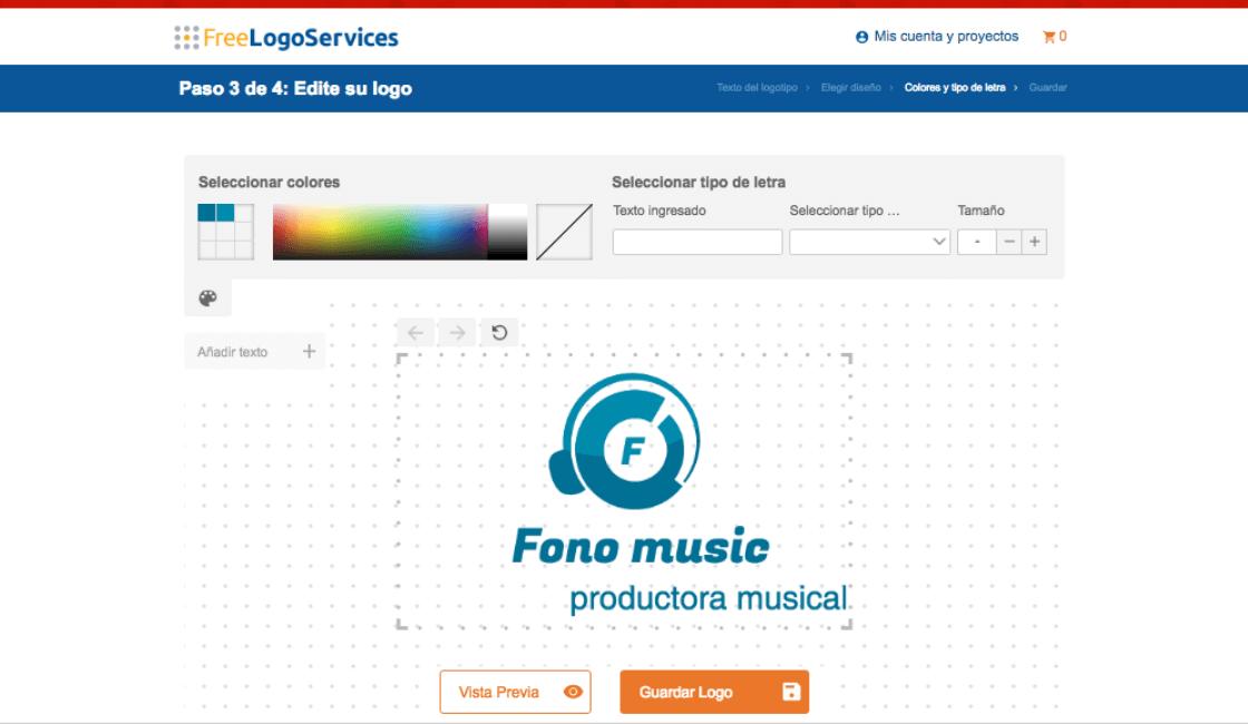 Free Logo Services home page - programas online para crear logos modernos gratis
