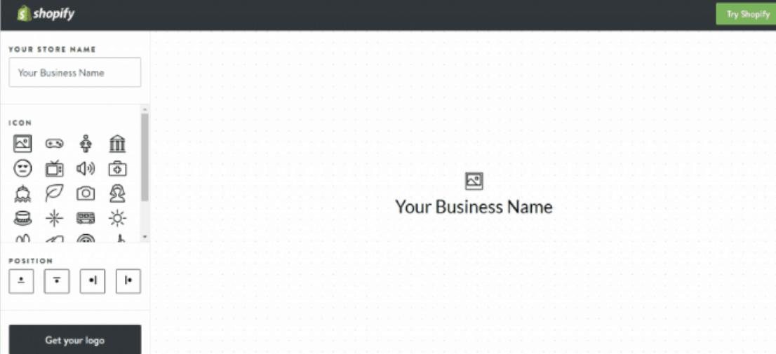 Hatchful Shopify home page - programas online para crear logos modernos gratis