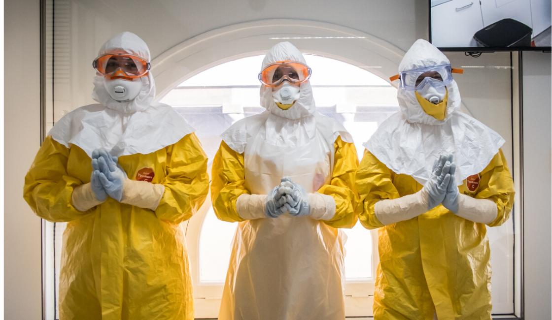 equipo proyección contra el coronavirus