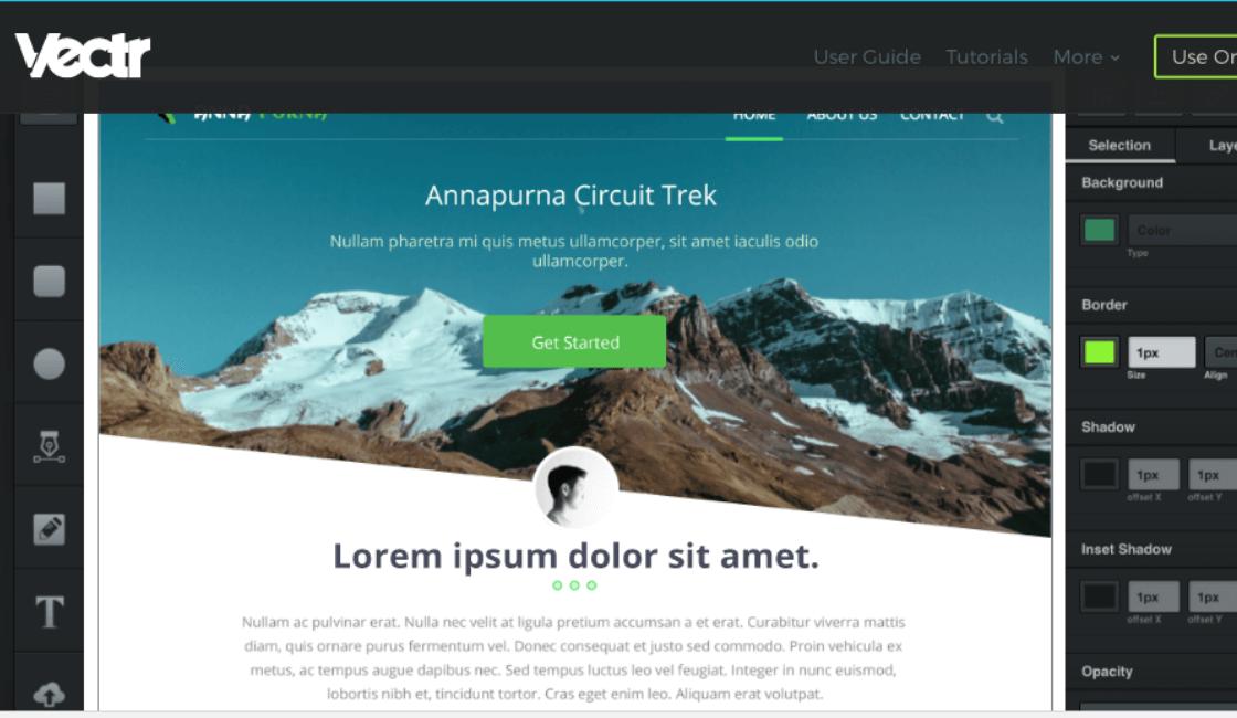 Vectr home page - programas online para crear logos modernos gratis