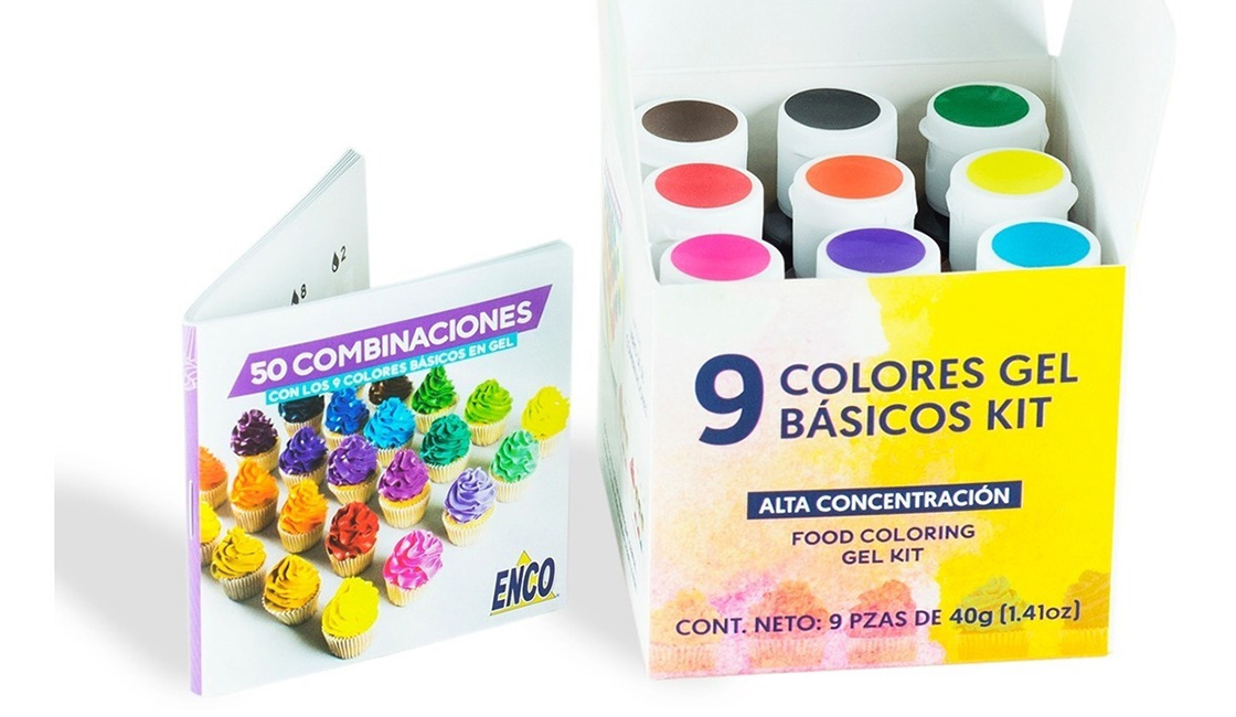 colorantes en gel para pintar crema chantilly
