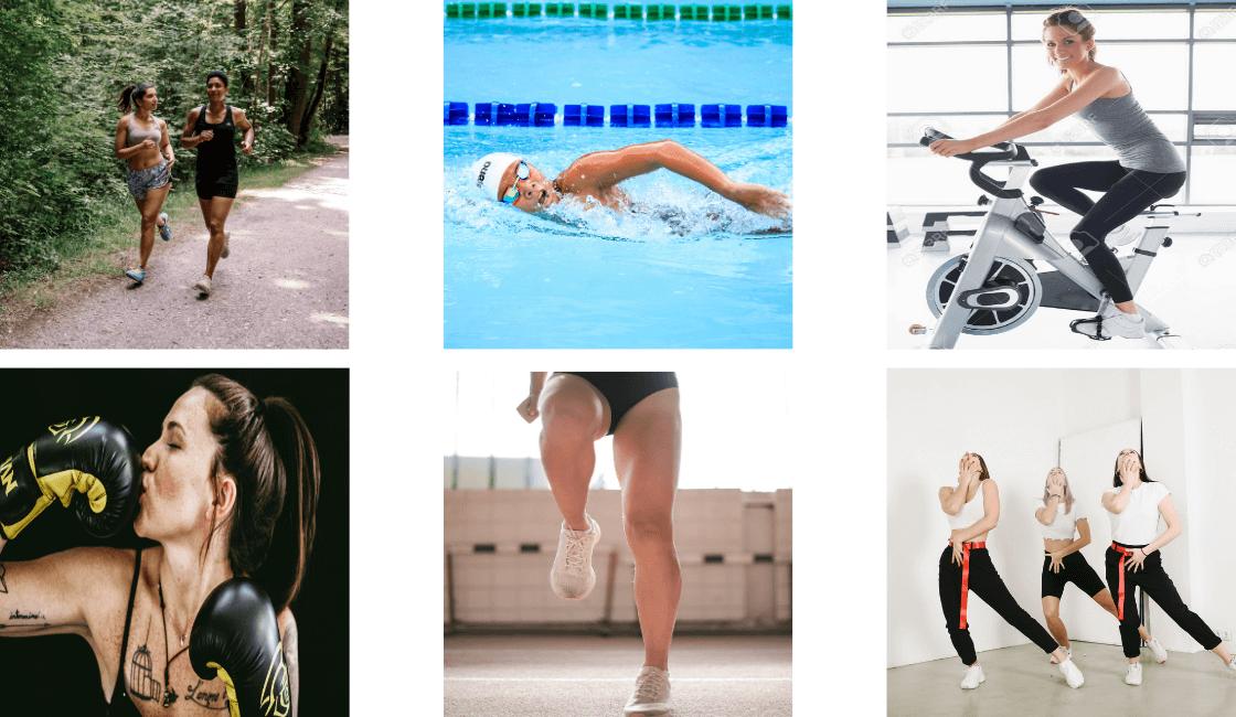 correr natación ciclismo boxeo Cardio baile