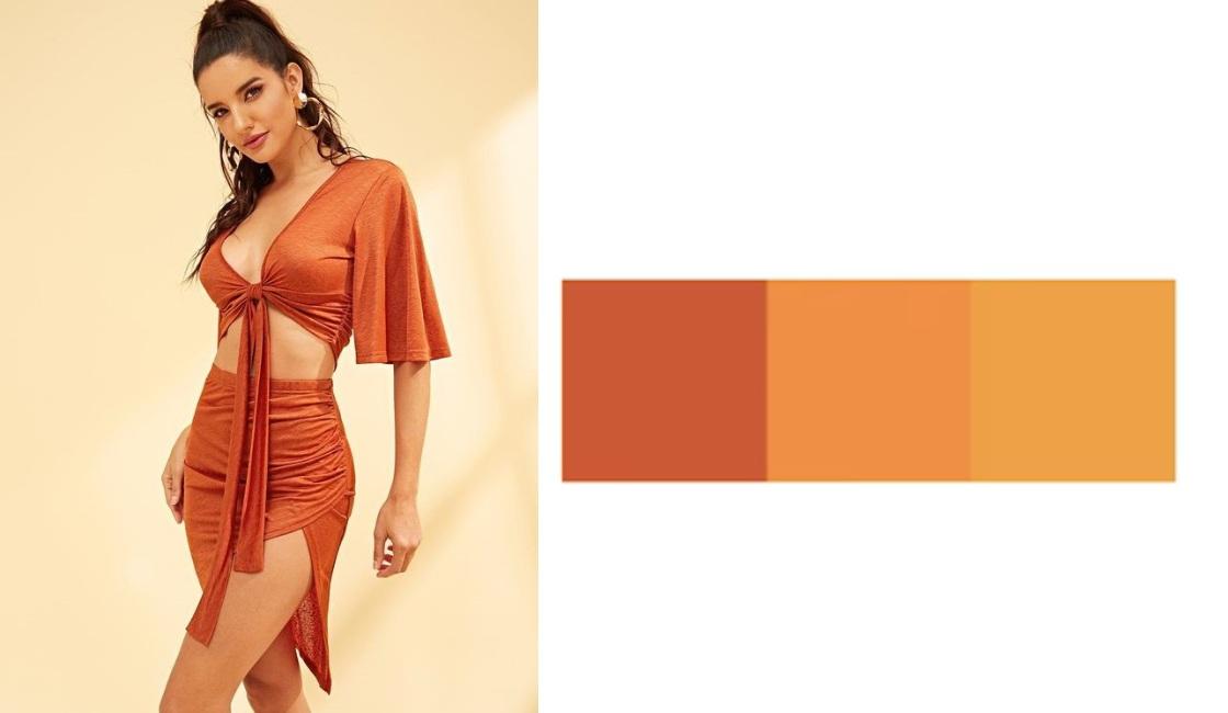 Outfit verano 2021 tonalidad Naranja
