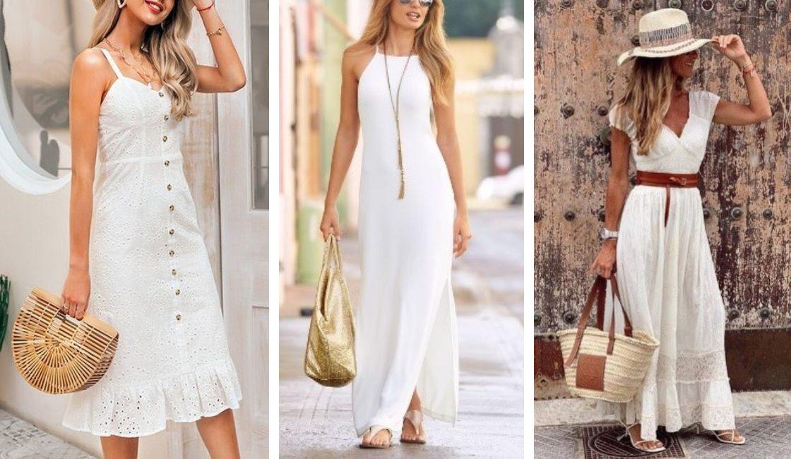 Vestido blanco o perla
