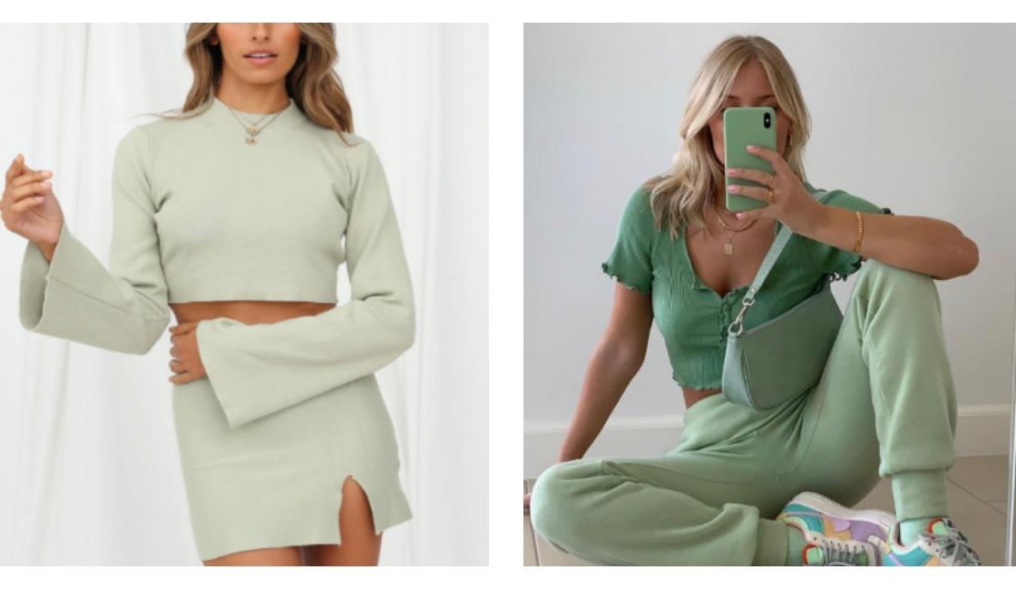 Outfit verde verano