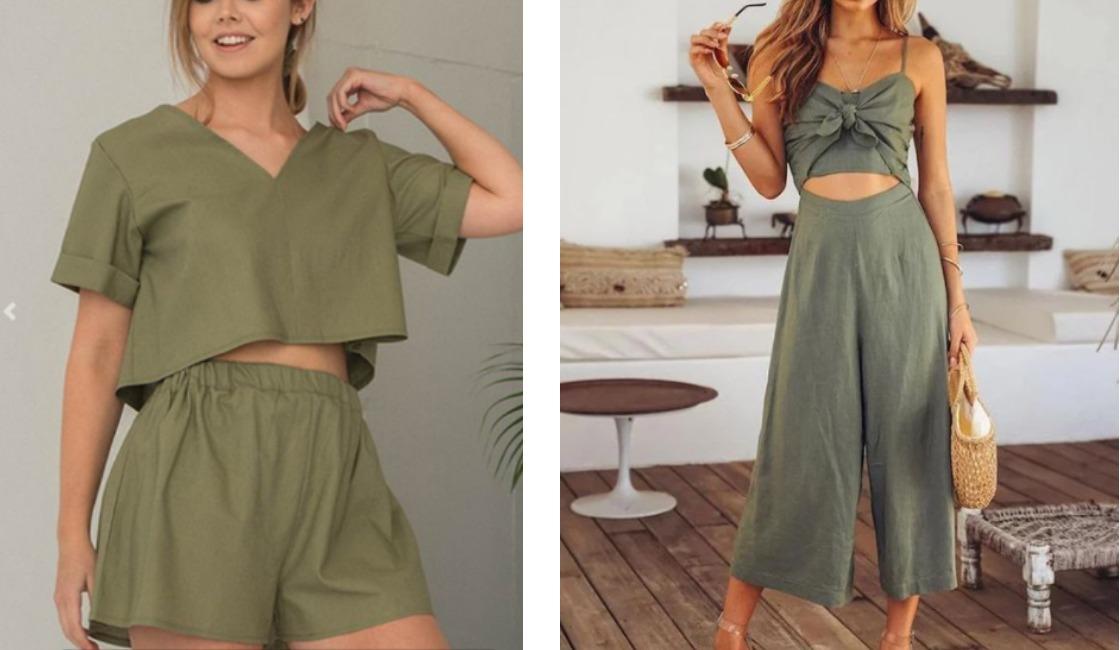 Outfit verde verano 2021