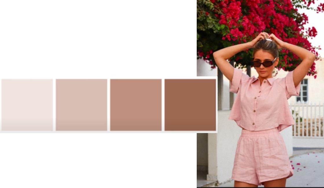 Outfit tonalidad rosa verano 2021