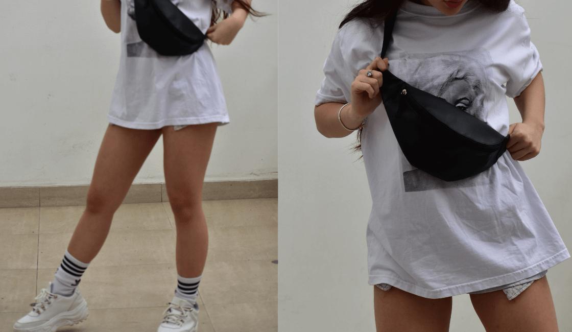 Outfit completo, tendencia de ropa de moda de verano: OVERSIZE
