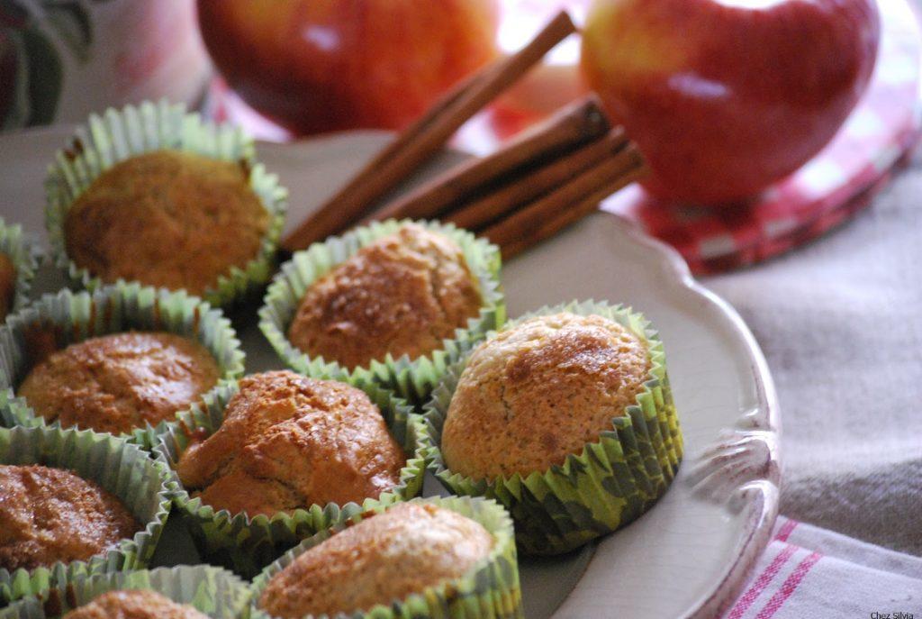 Muffins de avena con manzana y canela