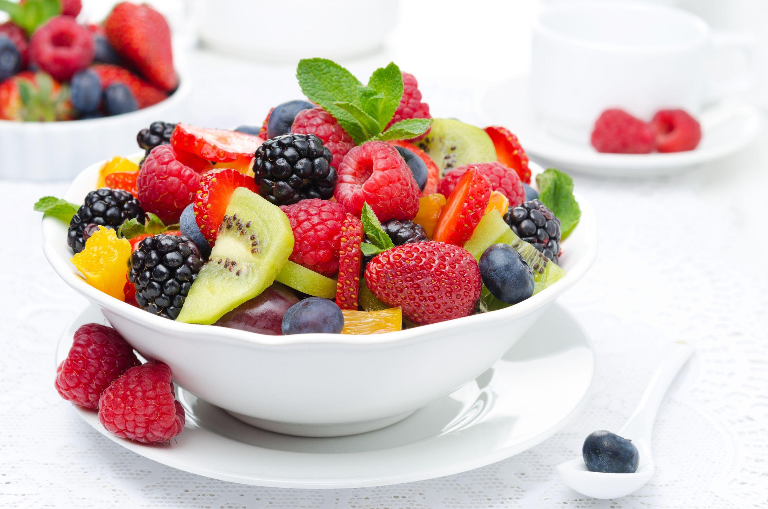 Desayuno de Avena con Ensalada de Frutas