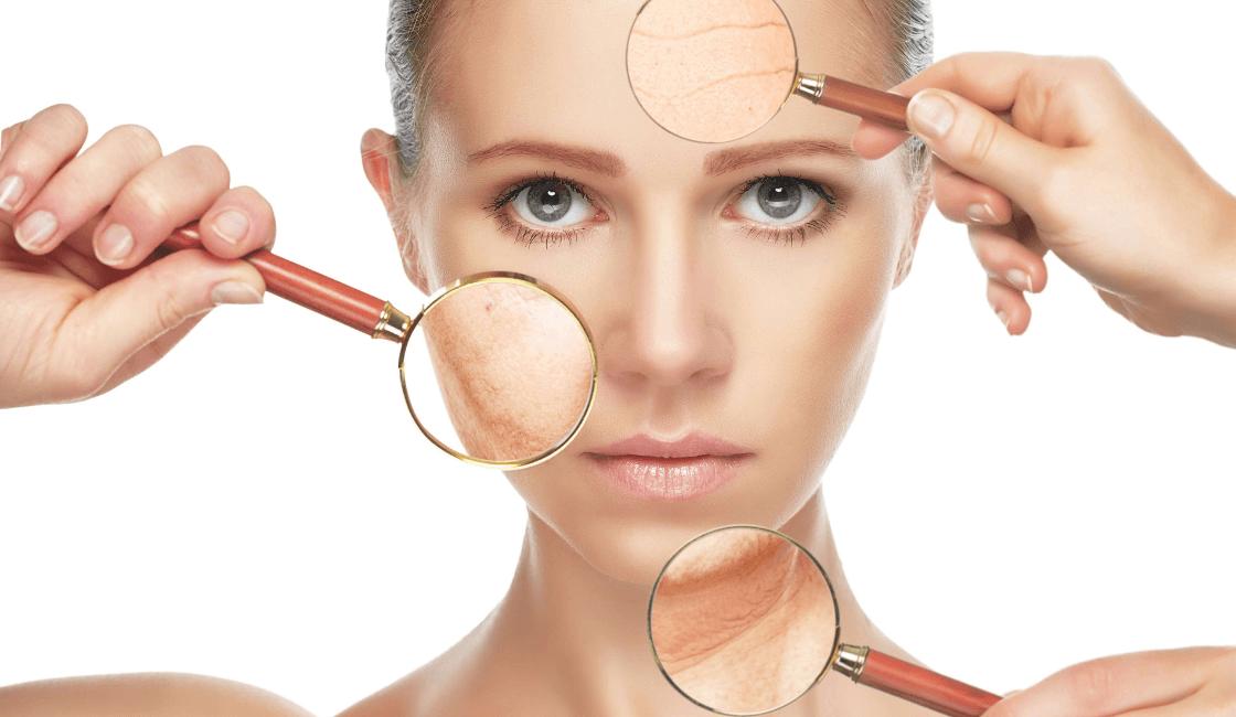 Identificar arrugas humectar piel