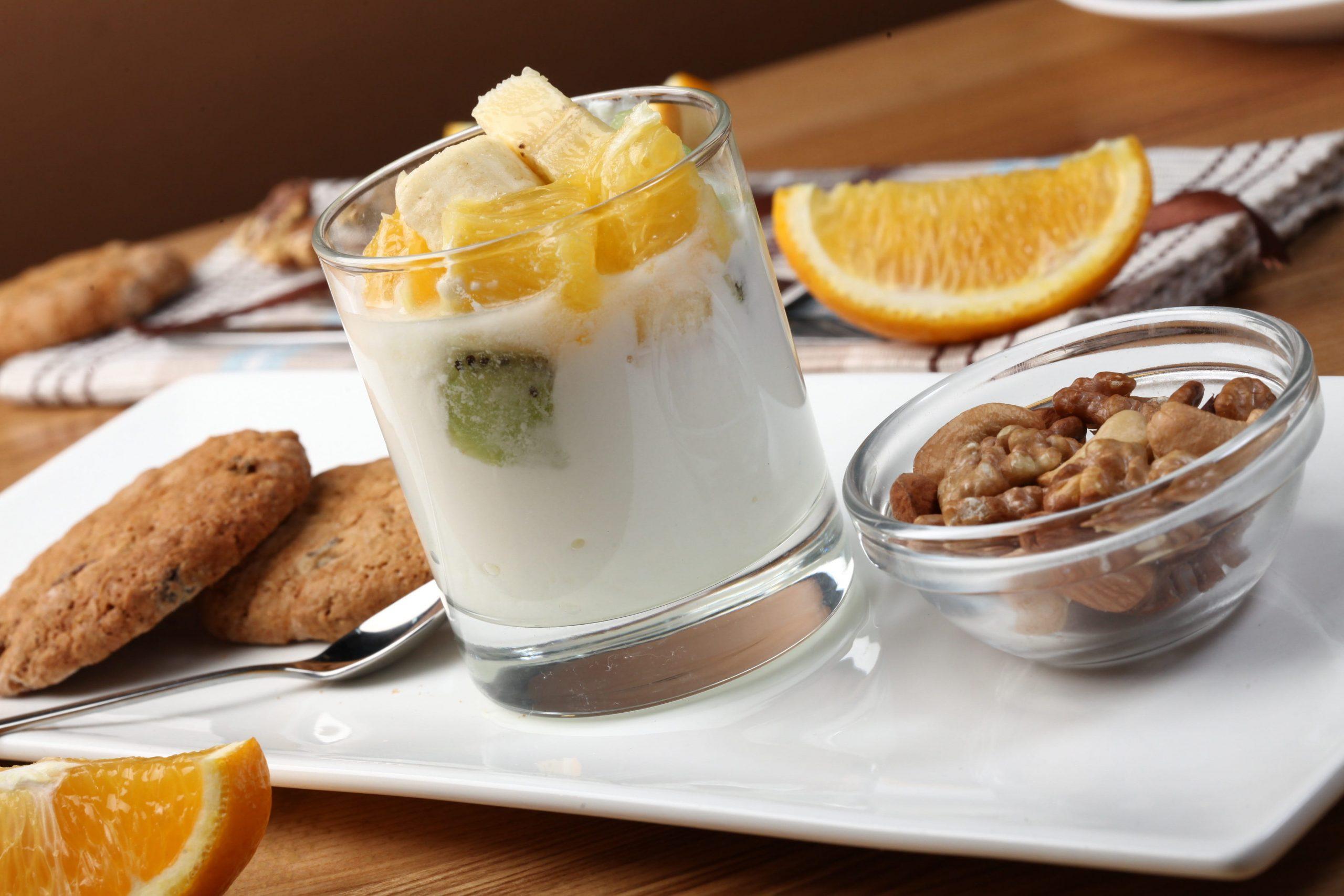 Desayuno con yogurt