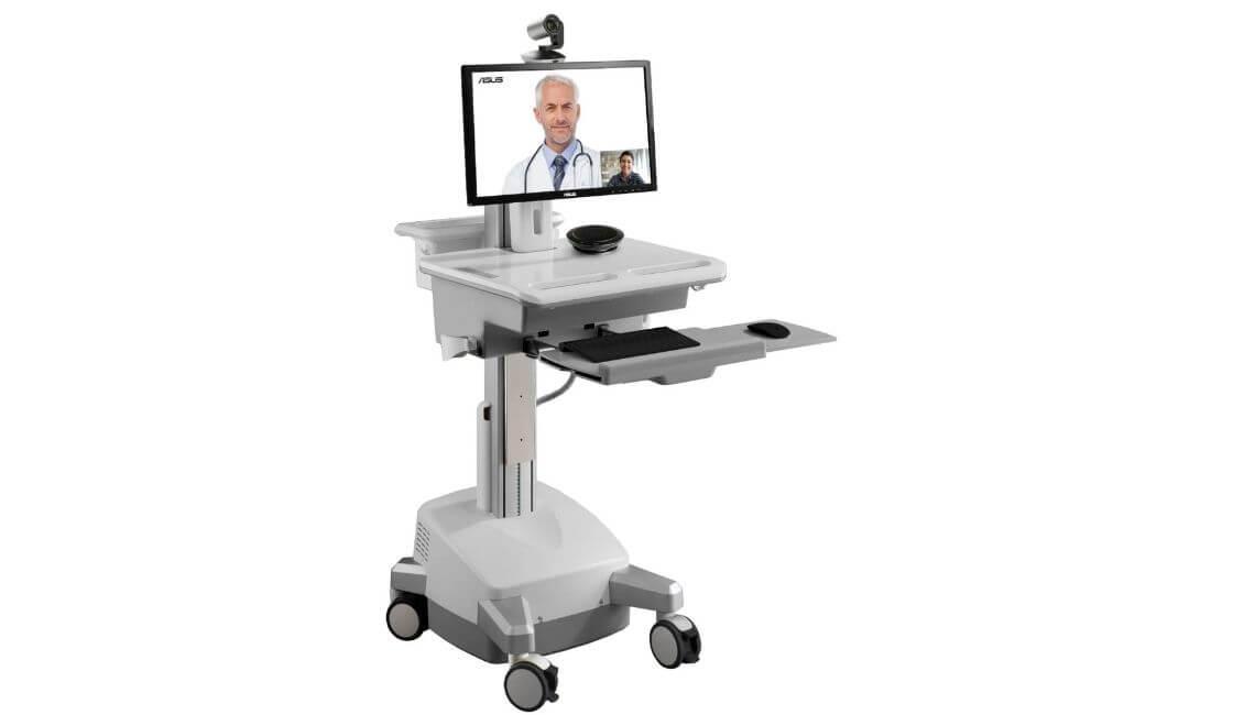 carrito de telemedicina atendiendo una consulta