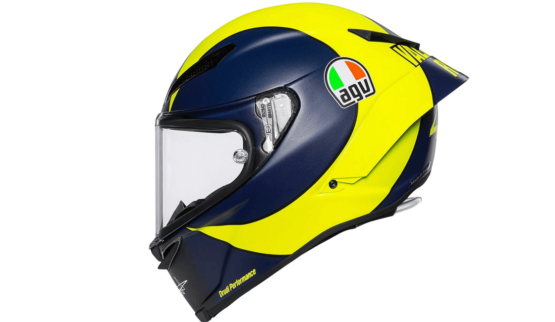 agv amarillo casco