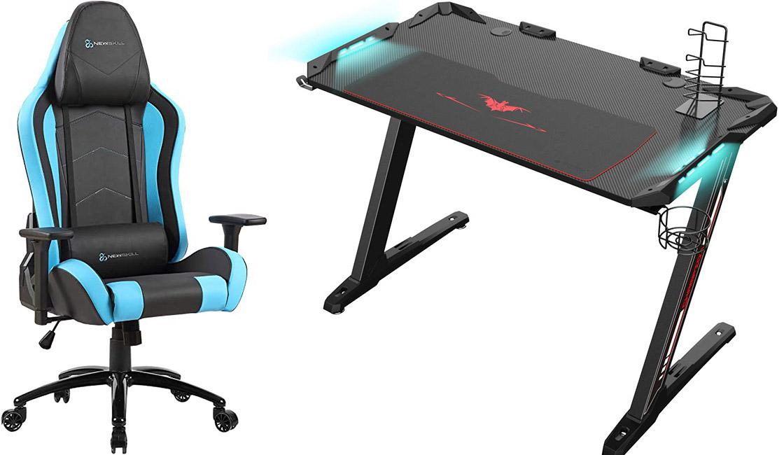 Eureka Ergonomic Z1S PRO y Newskill Takamikura escritorios y sillas para gamer