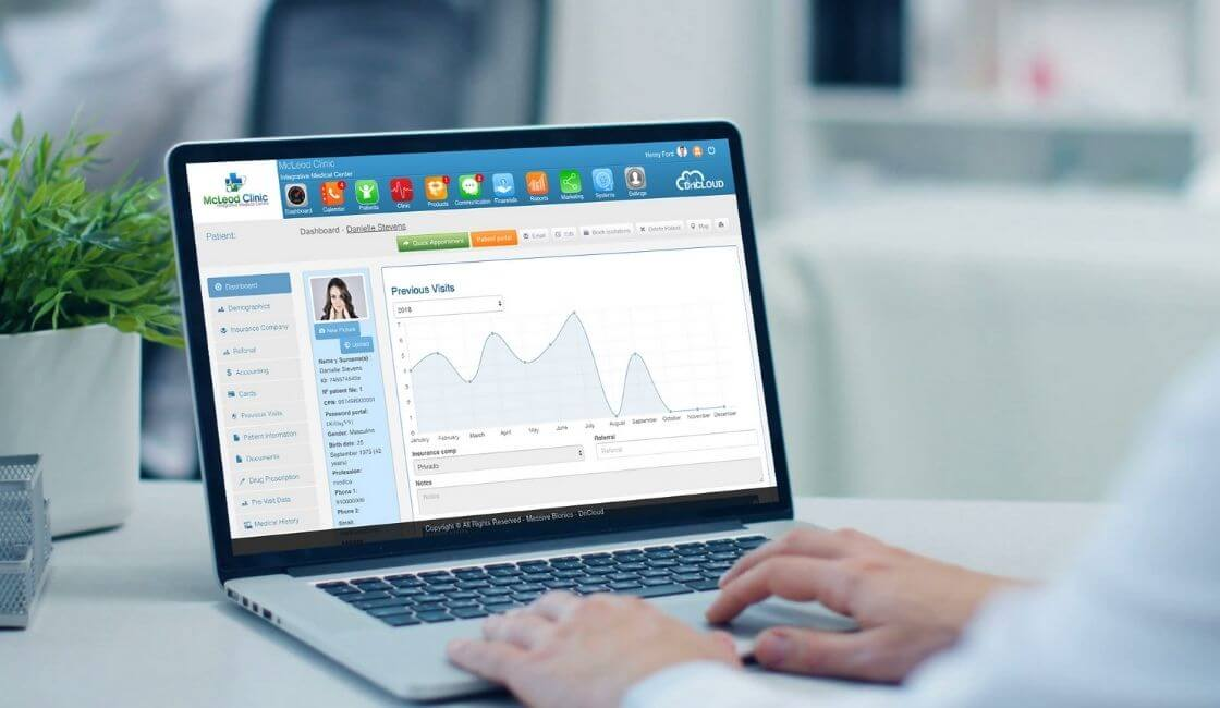 software usado para asistencia médica virtual