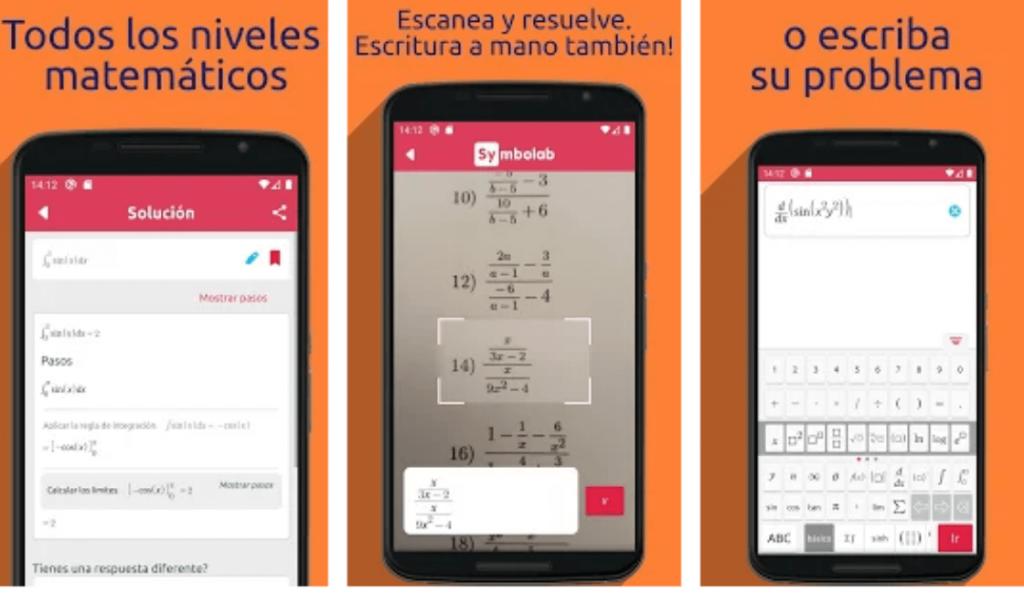 aplicación symbolab gratuita para celulares