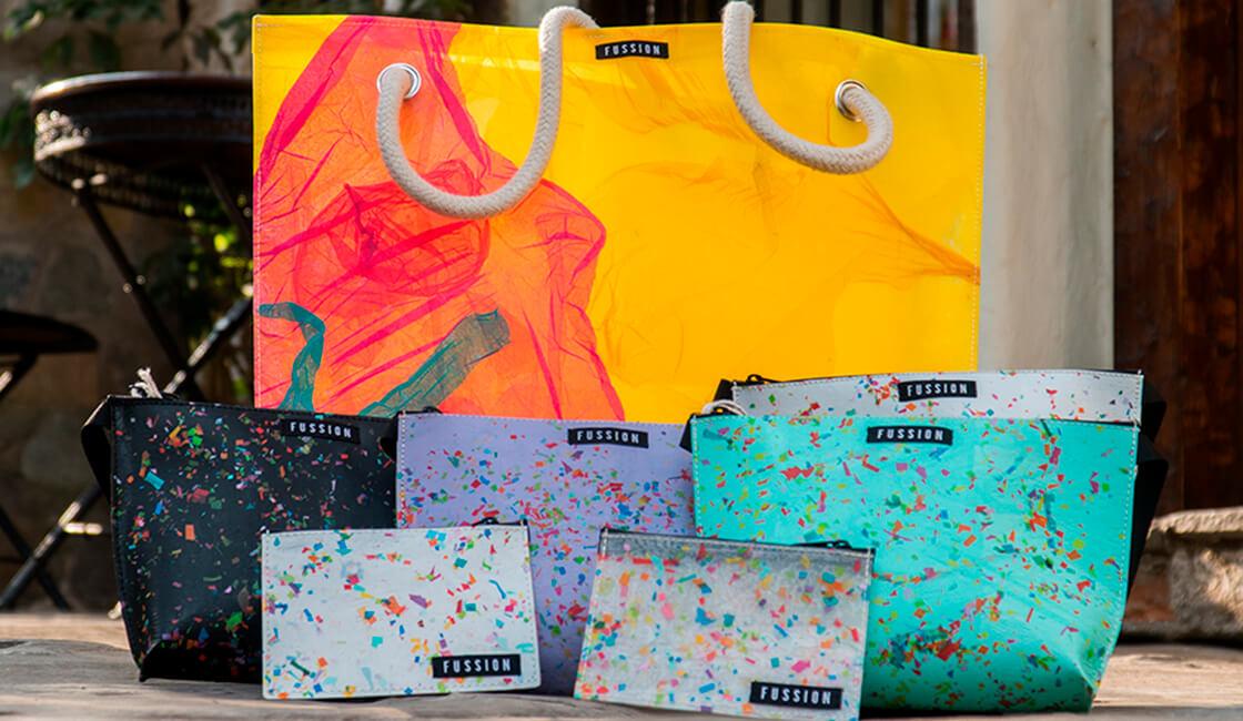 Marcas de Ropa con Propósito Social FUSSION bolsos de colores