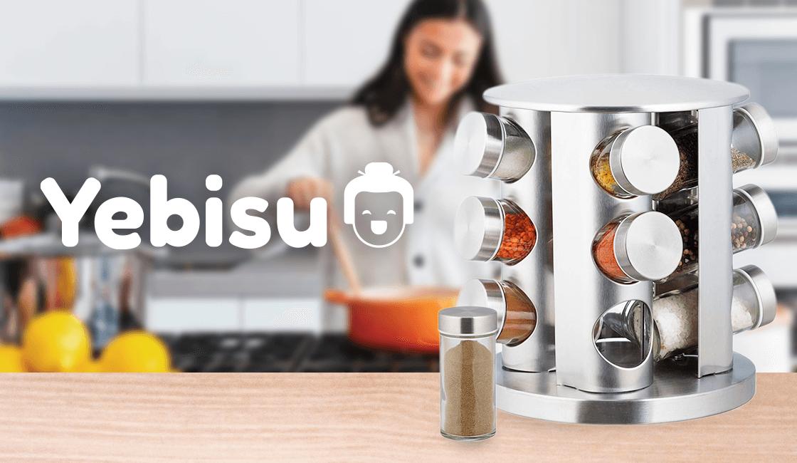 condimentero giratorio 3 en 1 artículos útiles para el hogar