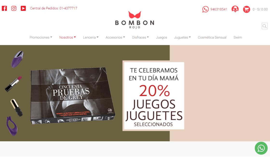 bombon rojo como una de las marcas de lRopa interior para mujeres Perú