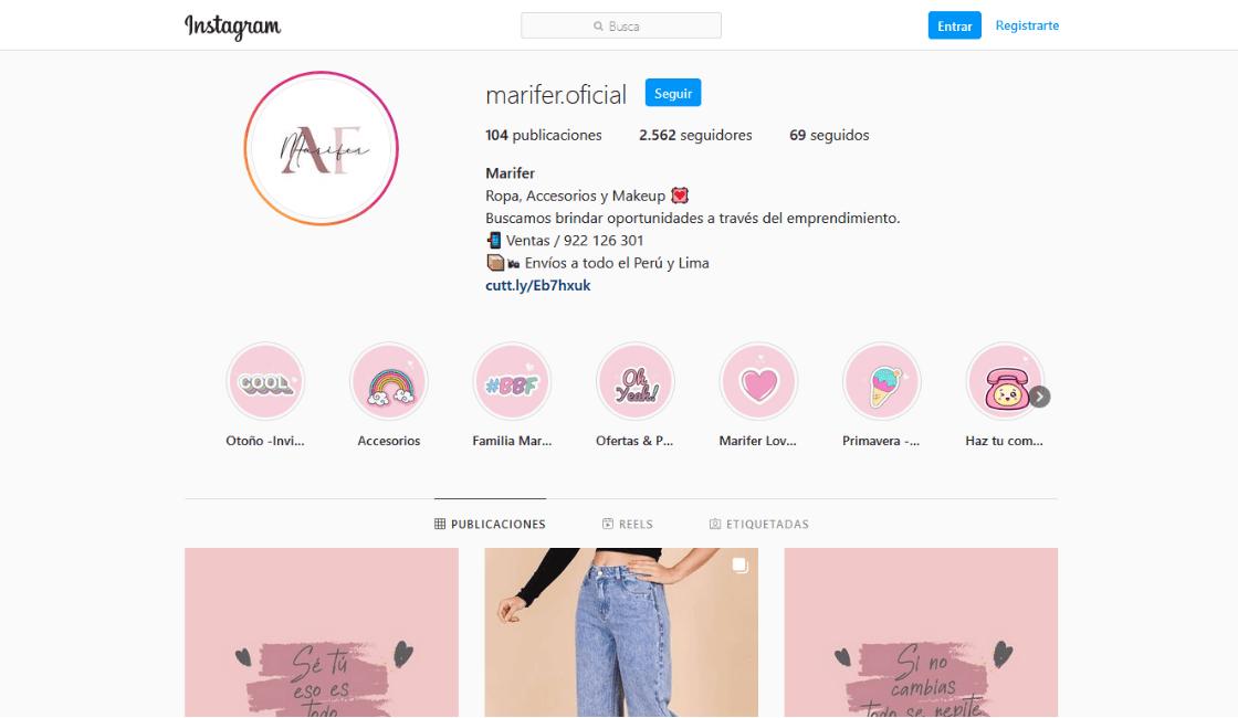 Instagram de marifer oficial