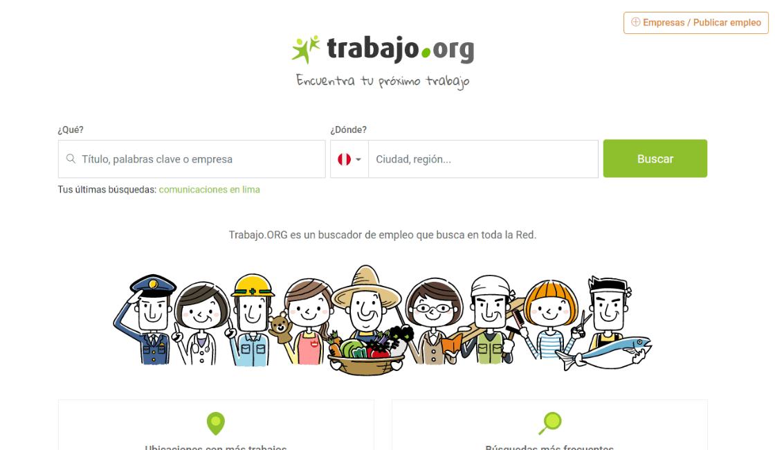 trabajo org entre los portales de empleo de lima Perú