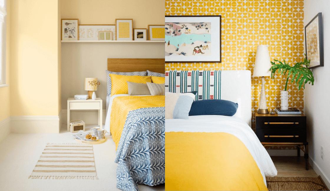 Dormitorios color amarillo_ Uno de los favoritos