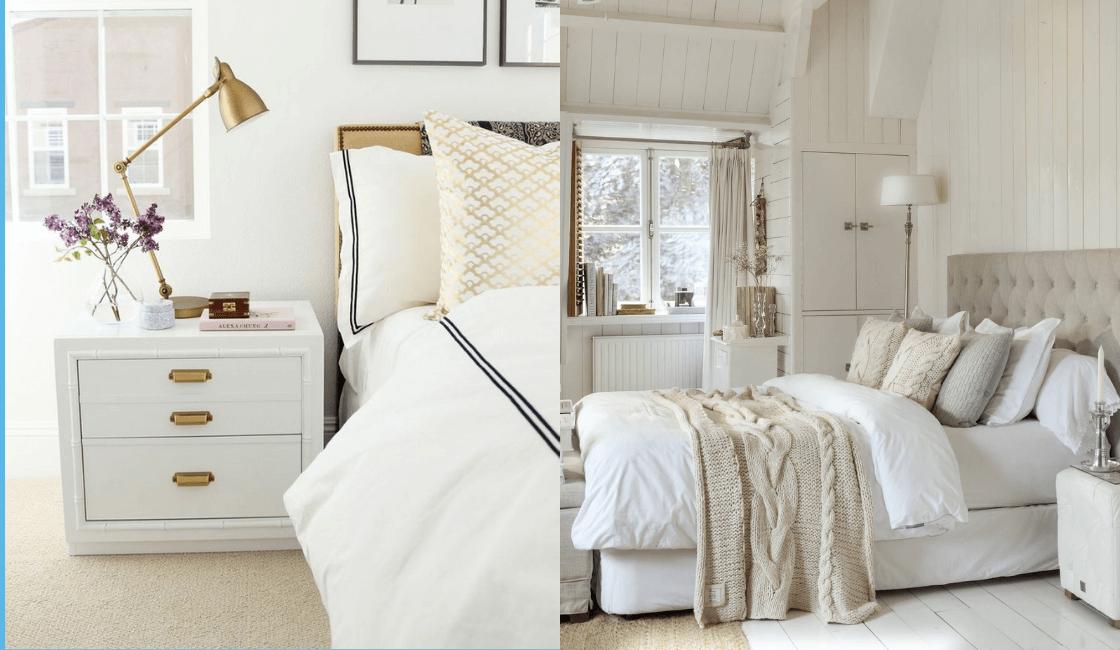 Dormitorios color blanco_ Uno de los colores para dormitorio más usado