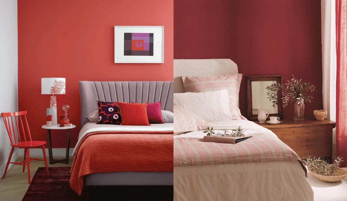 Dormitorios color rojo_ Color que puede resultar difícil