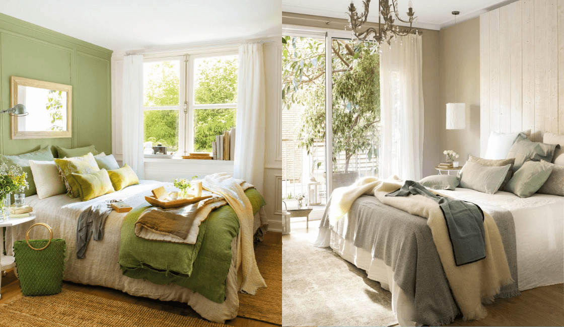 Dormitorios color verde_ Uno de los colores para dormitorio en tendencia