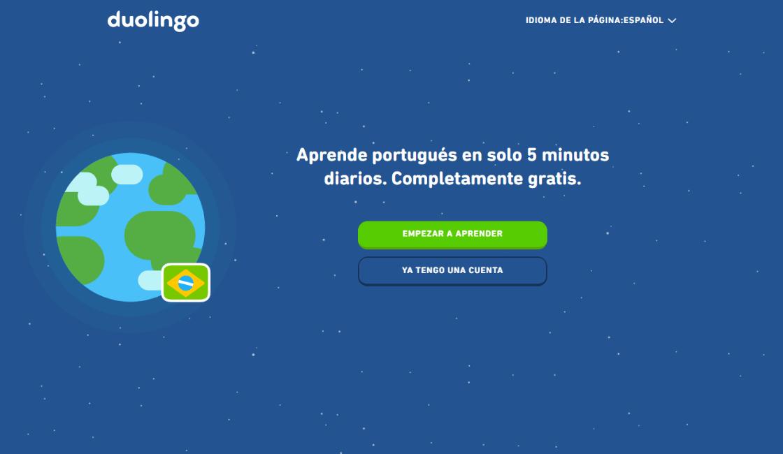 duolingo entre los cursos gratis de portugués