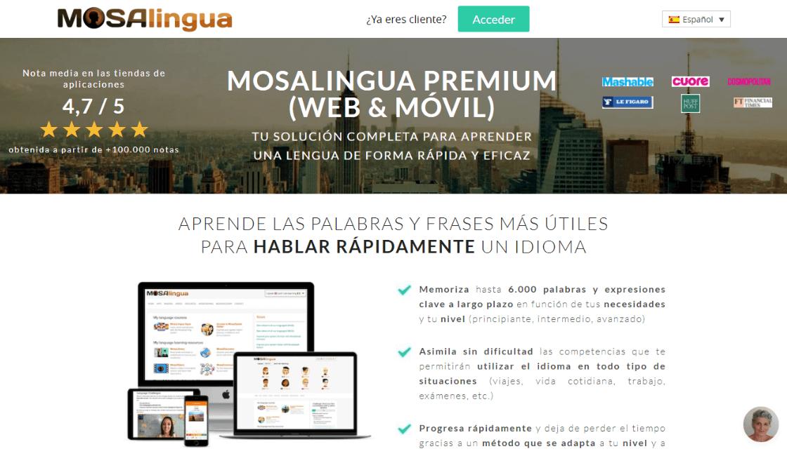 mosalingua entre los cursos gratis de portugués