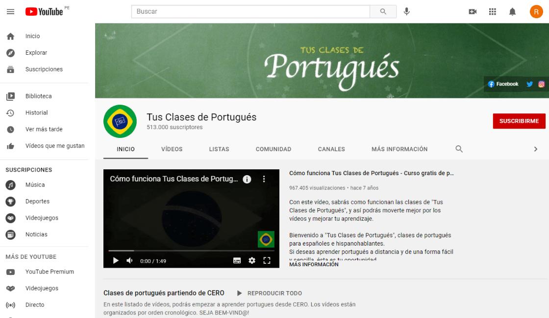 tus clases de portugues entre los cursos gratis