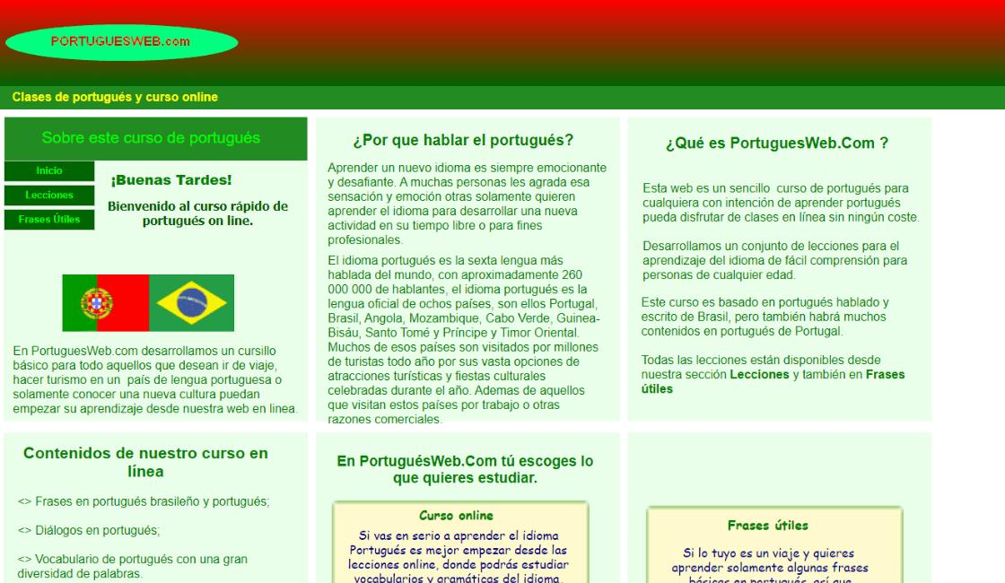 portugues web entre las plataformas para aprender portugues